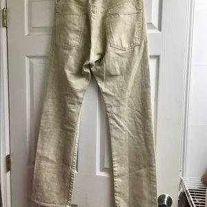 rrl Jeans - RRL Ralph Lauren men's off white jeans size 32x35